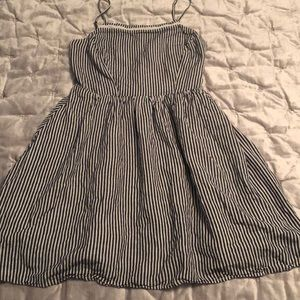 Old Navy Striped Sun Dress Blue and White